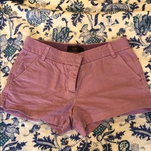 "J Crew 3"" Lavender Chino Shorts"